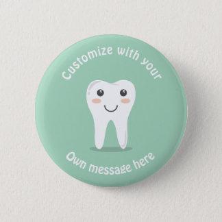 Badge Rond 5 Cm Dent souriante