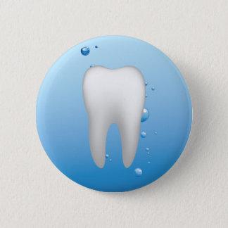 Badge Rond 5 Cm Dentiste dentaire blanc de bureau de dent et d'eau