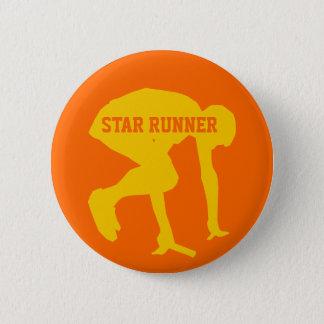 Badge Rond 5 Cm Dépistez le bouton personnalisable de coureur
