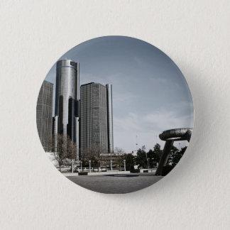 Badge Rond 5 Cm Detroit du centre