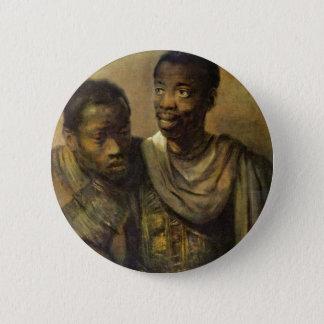 Badge Rond 5 Cm Deux jeunes Africains., Jonge par Rembrandt Van