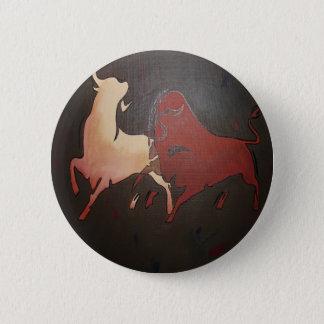 Badge Rond 5 Cm Deux taureaux de combat