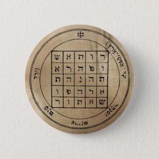 Badge Rond 5 Cm Deuxième pentagramme de bouton de Saturn