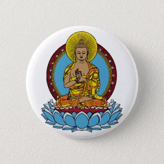 Badge Rond 5 Cm Dharmachakra Bouddha