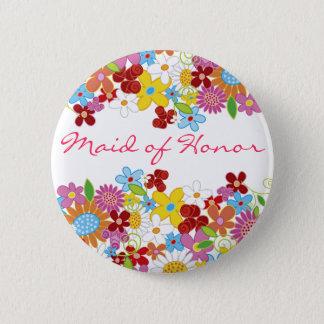 Badge Rond 5 Cm DOMESTIQUE de jardin de fleurs de ressort de