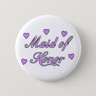 Badge Rond 5 Cm Domestique des coeurs de mariage d'honneur