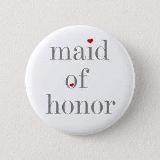 Badge Rond 5 Cm Domestique des textes d'honneur grise