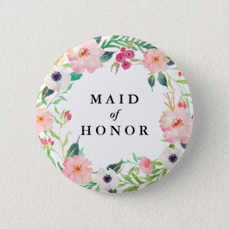 Badge Rond 5 Cm Domestique florale de ressort du mariage d'honneur