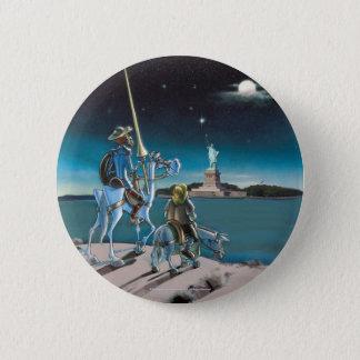 Badge Rond 5 Cm DON DON QUICHOTTE :  - Liberté, Sancho,… par le