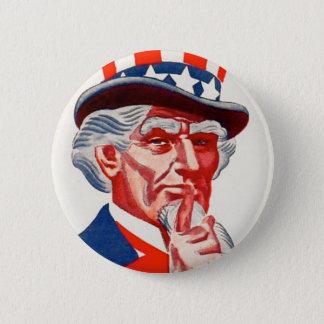 Badge Rond 5 Cm D'Oncle Sam bouton vintage chut