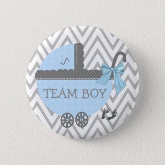 Badge Rond 5 Cm Douche bleue de voiture d'enfant de garçon