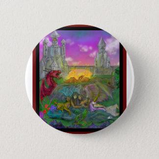 Badge Rond 5 Cm Dragon d'ange d'homme de femme de licorne de