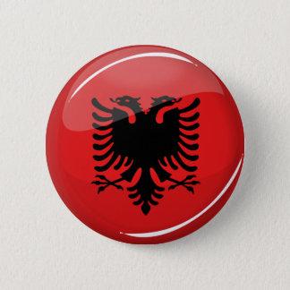 Badge Rond 5 Cm Drapeau albanais rond brillant