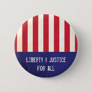 Badge Rond 5 Cm Drapeau américain de liberté et de justice