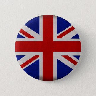 Badge Rond 5 Cm Drapeau Anglais d'Angleterre texturé