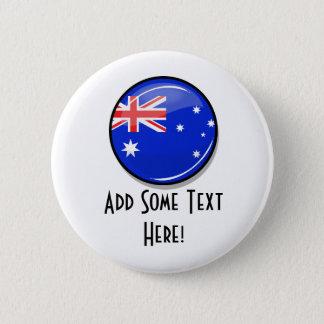 Badge Rond 5 Cm Drapeau australien rond brillant