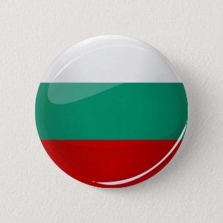 Badge Rond 5 Cm Drapeau bulgare rond brillant