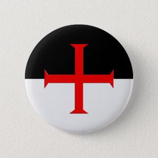 Badge Rond 5 Cm Drapeau croisé de Templar de chevaliers médiévaux
