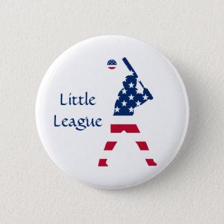 Badge Rond 5 Cm Drapeau d'Américain de base-ball de l'Amérique