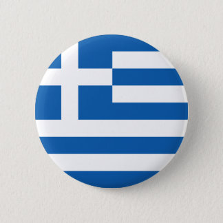 Badge Rond 5 Cm Drapeau de bouton de la Grèce