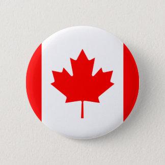 Badge Rond 5 Cm Drapeau de bouton du Canada