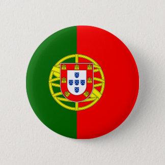 Badge Rond 5 Cm Drapeau de bouton du Portugal