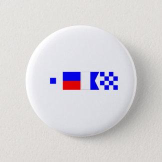 Badge Rond 5 Cm Drapeau de code Sean