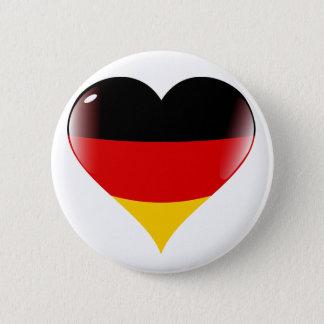 Badge Rond 5 Cm Drapeau de coeur du Deutschland