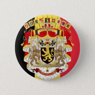 Badge Rond 5 Cm Drapeau de la Belgique et COA