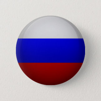 Badge Rond 5 Cm Drapeau de la Fédération de Russie