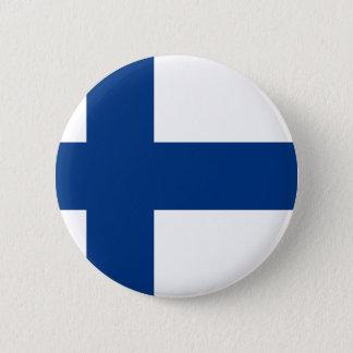 Badge Rond 5 Cm Drapeau de la Finlande - le Suomen Lippu - le