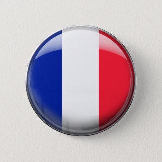 Badge Rond 5 Cm Drapeau de la France