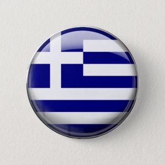Badge Rond 5 Cm Drapeau de la Grèce