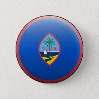 Badge Rond 5 Cm Drapeau de la Guam
