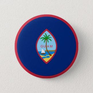 Badge Rond 5 Cm Drapeau de la Guam (Etats-Unis) sur le Pin/insigne