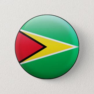 Badge Rond 5 Cm Drapeau de la Guyane