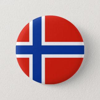 Badge Rond 5 Cm Drapeau de la Norvège