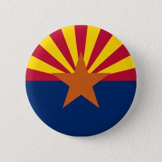Badge Rond 5 Cm Drapeau de l'Arizona