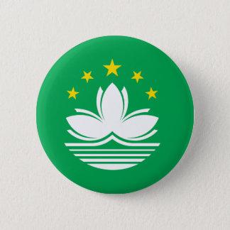 Badge Rond 5 Cm Drapeau de Macao