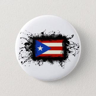 Badge Rond 5 Cm Drapeau de Porto Rico