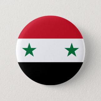 Badge Rond 5 Cm Drapeau de République arabe syrienne - drapeau de