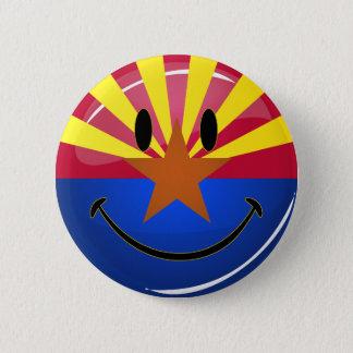 Badge Rond 5 Cm Drapeau de sourire de l'Arizona