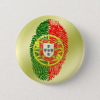 Badge Rond 5 Cm Drapeau d'empreinte digitale de contact de