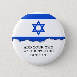 Badge Rond 5 Cm Drapeau d'Israélien