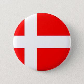 Badge Rond 5 Cm Drapeau du Danemark