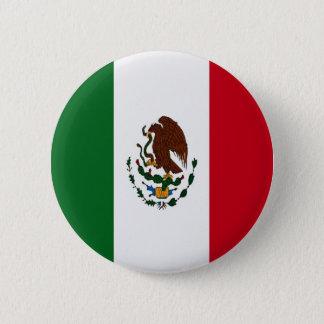 Badge Rond 5 Cm Drapeau du Mexique