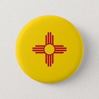 Badge Rond 5 Cm Drapeau du Nouveau Mexique