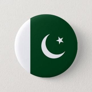 Badge Rond 5 Cm Drapeau du Pakistan sur le Pin/insigne de bouton