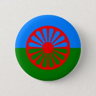 Badge Rond 5 Cm Drapeau gitan bohémien officiel