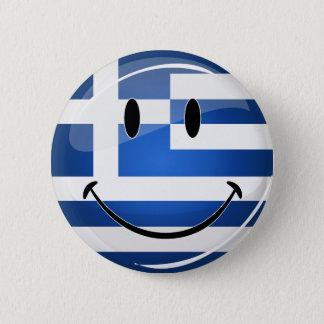 Badge Rond 5 Cm Drapeau grec de sourire